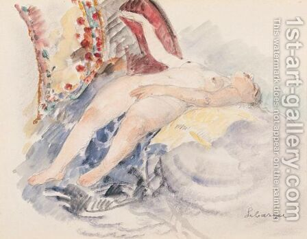 Nu Allonge 5 by Henri Lebasque - Reproduction Oil Painting