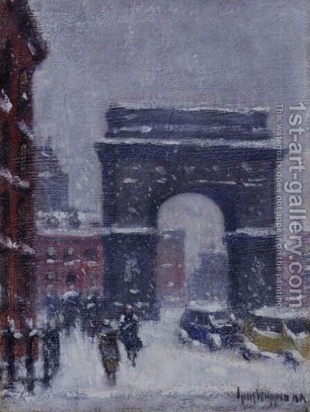 Washington Square by Guy Carleton Wiggins - Reproduction Oil Painting