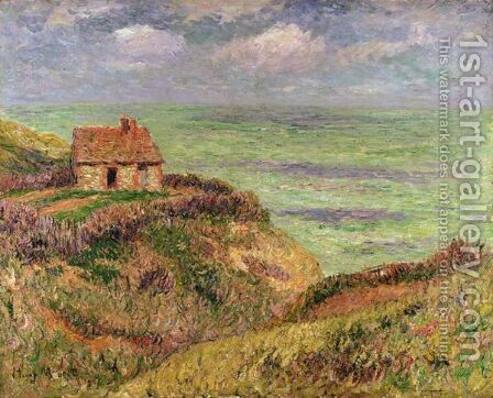 Vue De La Cabane Des Douaniers, A Pourville by Henri Moret - Reproduction Oil Painting