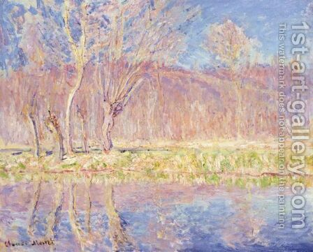 Arbres Au Bord De L'Eau. Printemps A Giverny by Claude Oscar Monet - Reproduction Oil Painting