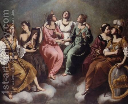 The Seven Virtues by Imperiale Della Grammatica - Reproduction Oil Painting