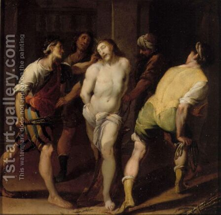 The Flagellation by Daniele Crespi - Reproduction Oil Painting