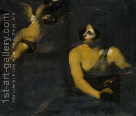 An Allegory Of Painting by Massimo Stanzione - Reproduction Oil Painting
