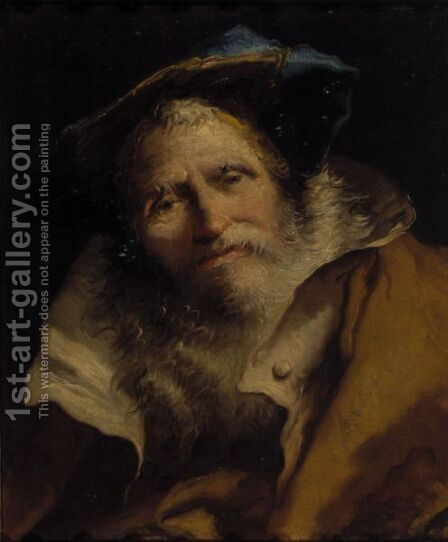Head Of A Philosopher 2 by Giovanni Domenico Tiepolo - Reproduction Oil Painting