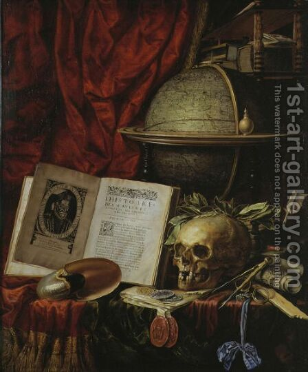 Vanitas Still Life by Christiaan Luyckx - Reproduction Oil Painting