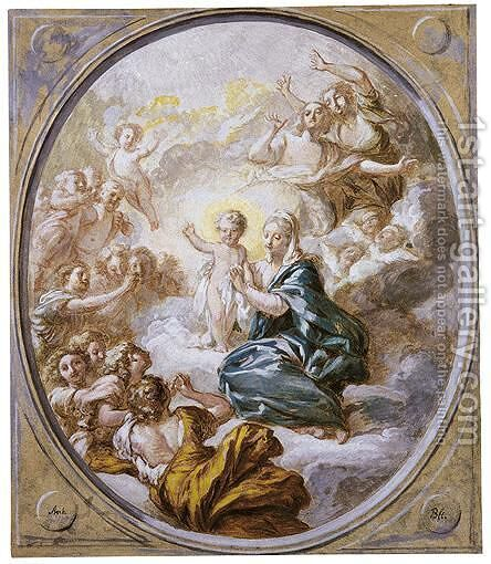 The Madonna In Glory With The Infant Christ by Jacques-Antoine Beaufort - Reproduction Oil Painting