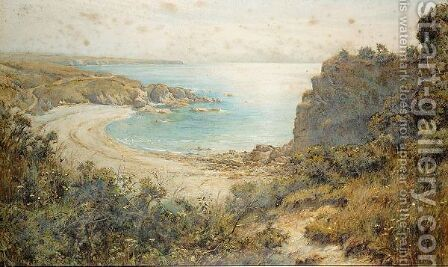 Silver strand, north of peel, the isle of man by Harold Swanwick - Reproduction Oil Painting