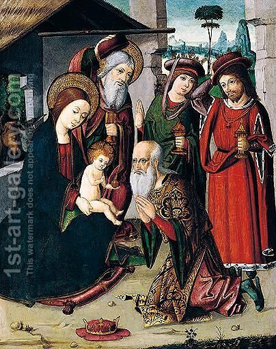 Adoration of the magi by Italian Unknown Master - Reproduction Oil Painting