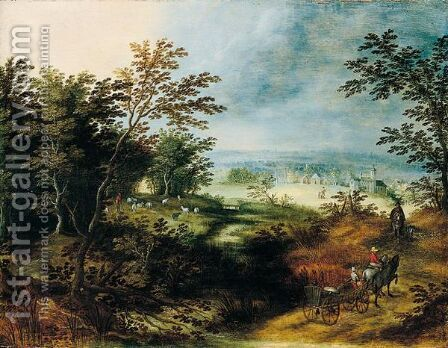 Landscape by Jan, the Younger Brueghel - Reproduction Oil Painting