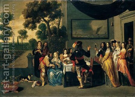 Untitled by Christoffel Jacobsz van der Lamen - Reproduction Oil Painting