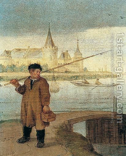 The Fisherman by Arentsz van der Cabel - Reproduction Oil Painting