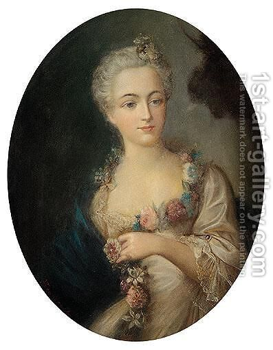 Portrait of a woman by (after) Fragonard, Jean-Honore - Reproduction Oil Painting