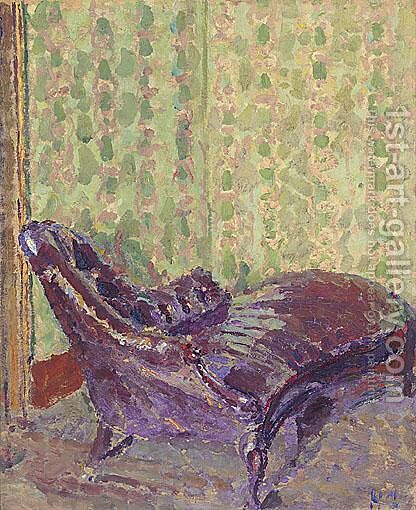 The Horse Hair Chaise-Longue by Harold Gilman - Reproduction Oil Painting