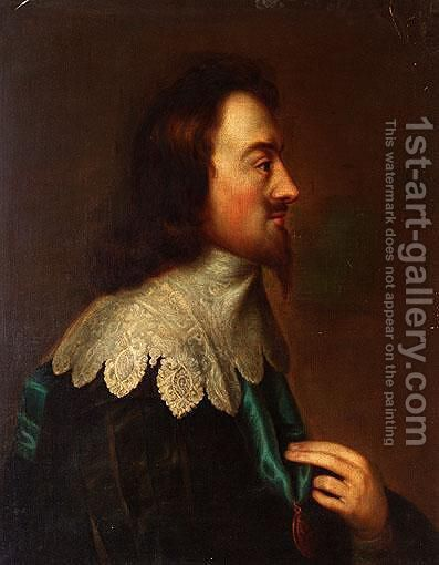 Portrait Of Charles I by (after) Johnson, Cornelius I - Reproduction Oil Painting