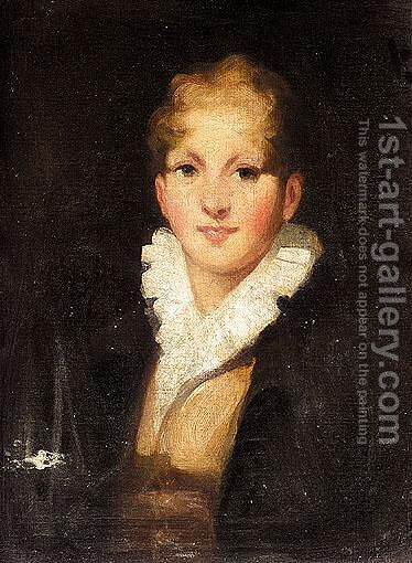 Portrait Of A Boy by (after) Sir Henry Raeburn - Reproduction Oil Painting