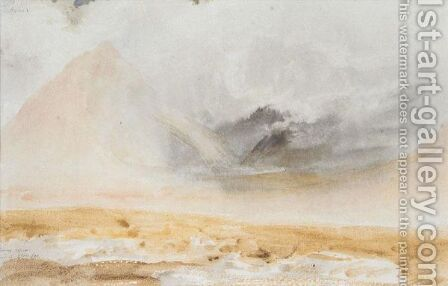 A Stormy Effect, Head Of Glen Coe by (after) Fielding, A.V. Copley - Reproduction Oil Painting