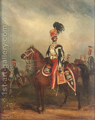 Portrait Of General Terry, Xv Hussars by Henry Martin - Reproduction Oil Painting