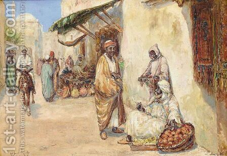 The Fruit Sellers by Arthur Keith - Reproduction Oil Painting