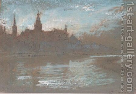 Nijmegen, Rhine by Albert Goodwin - Reproduction Oil Painting