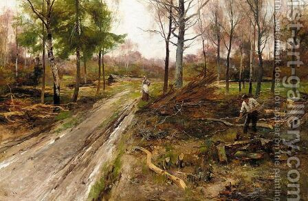 The Woodcutter by Alfred Glendening - Reproduction Oil Painting