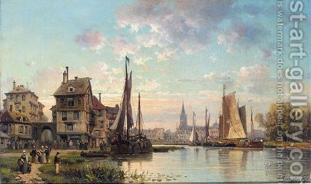Vilvorde, Belguim by Charles Euphrasie Kuwasegg - Reproduction Oil Painting