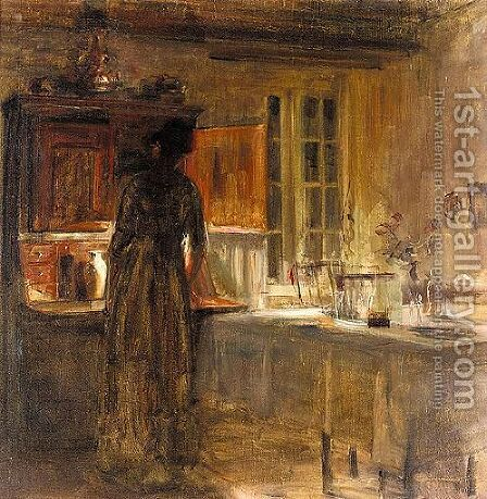 Woman In An Interior 2 by Carl Vilhelm Holsoe - Reproduction Oil Painting