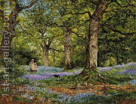Blue Bells by Benjamin Williams Leader - Reproduction Oil Painting