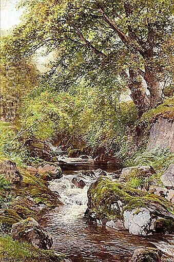 A Chattering Beck At Ullswater by Harry Sutton Palmer - Reproduction Oil Painting