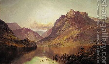Ben Nevis At Sunrise by Alfred de Breanski - Reproduction Oil Painting