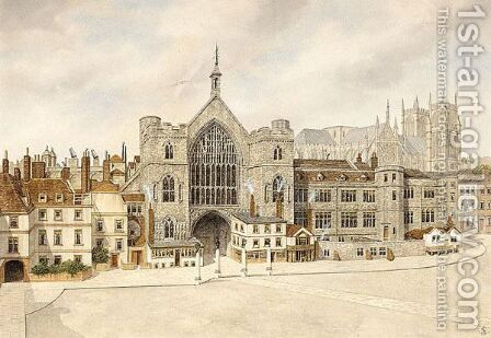 Westminster Hall And Westminster Abbey by James Lawson Stewart - Reproduction Oil Painting