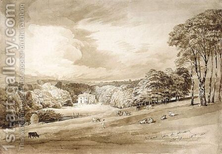 A View Of Kidbrook, Sussex by Cornelius Varley - Reproduction Oil Painting