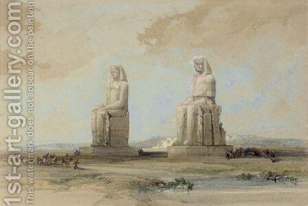 Statues Of Memnon In The Plain Of Thebes by David Roberts - Reproduction Oil Painting