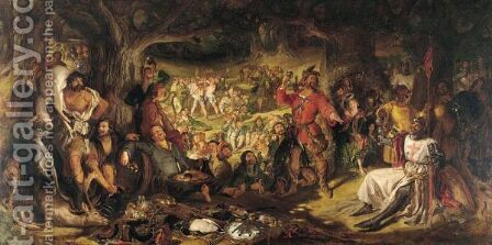 Robin Hood by Daniel Maclise - Reproduction Oil Painting