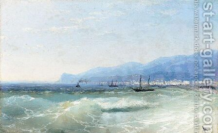 View Of Feodosia, 26th September 1897 by Ivan Konstantinovich Aivazovsky - Reproduction Oil Painting