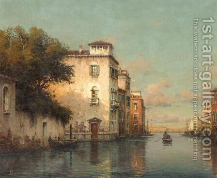 Canal A Venise by Antione Bouvard - Reproduction Oil Painting