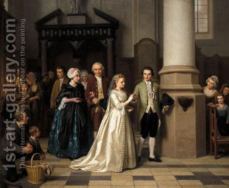 The Newly Weds by Basile De Loose - Reproduction Oil Painting