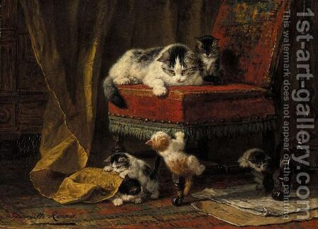 Mother's Pride by Henriette Ronner-Knip - Reproduction Oil Painting