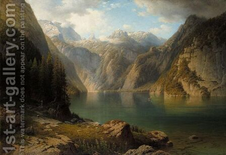 View Of The Konigssee by Daniel Somogyi - Reproduction Oil Painting