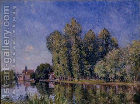 Le Loing A Moret 2 by Alfred Sisley - Reproduction Oil Painting