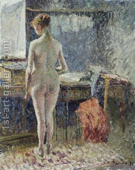 Femme Nue Vue De Dos by Camille Pissarro - Reproduction Oil Painting