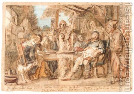 A Merry Company (An Allegory Of Integrity) by Jacob Jordaens - Reproduction Oil Painting