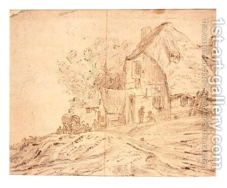 A Wayside Inn by (after)  Jan Van Goyen - Reproduction Oil Painting