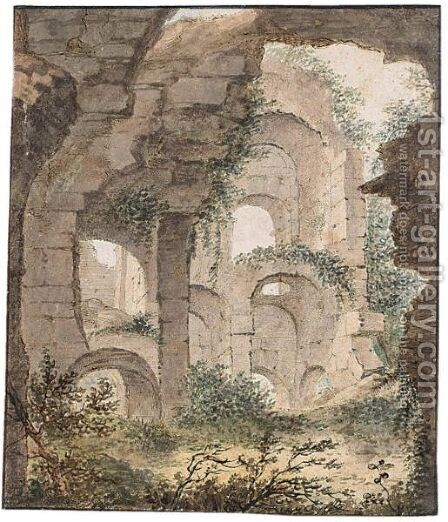 Roman Ruins by (after) Theodoor Wilkens - Reproduction Oil Painting
