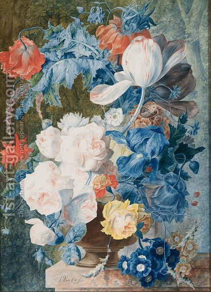 Flower Still-Life by Jan van Os - Reproduction Oil Painting