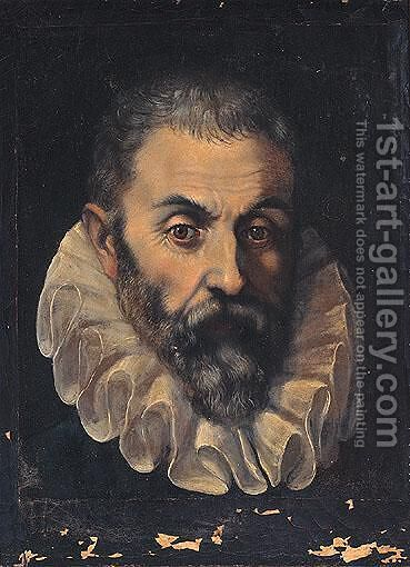 Portrait Of A Gentleman, Head And Shoulders, Said To Be Guidobaldo Della Rovere, Duke Of Urbino by (after) Federico Fiori Barocci - Reproduction Oil Painting