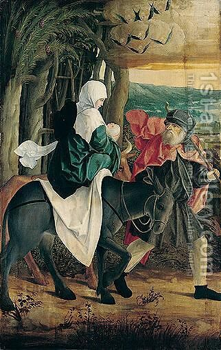 The Flight Into Egypt by (after) Hans Baldung Grien - Reproduction Oil Painting