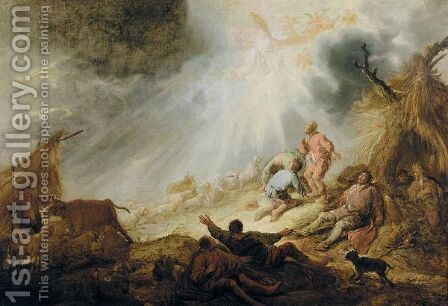 The Annunciation Of The Angels To The Shepherds by Benjamin Gerritsz. Cuyp - Reproduction Oil Painting