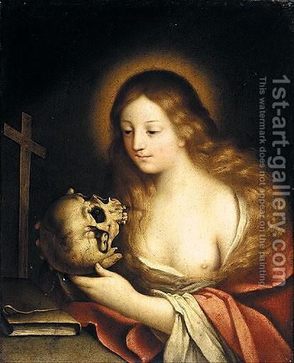 The Penitent Magdalene by (after) Carlo Francesco Nuvolone - Reproduction Oil Painting