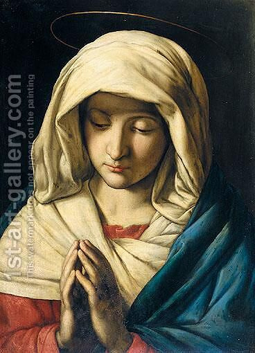 The Madonna At Prayer 10 by (after) Giovanni Battista Salvi, Il Sassoferato - Reproduction Oil Painting