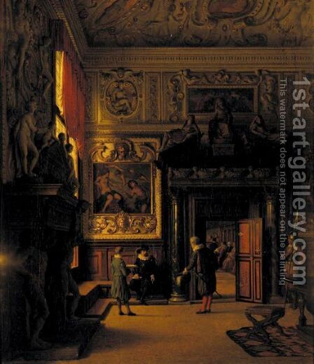 Interior Of The Doge's Palace by Heinrich Hansen - Reproduction Oil Painting